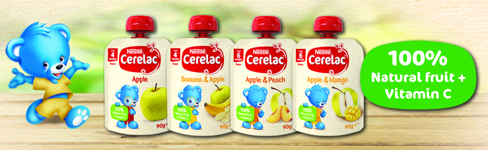 Cerelac, baby food, pouches, baby food pouch, puree, baby puree, nestle, baby snack