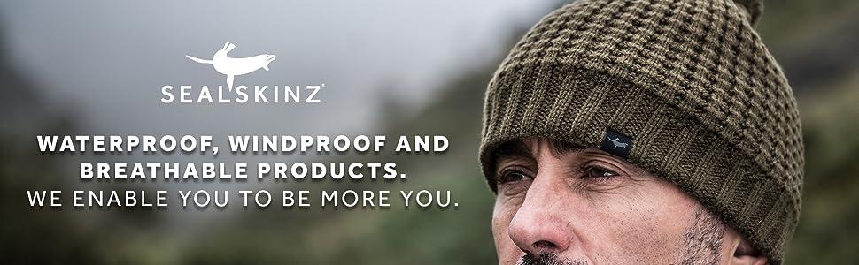 e74a637c275 Sealskinz Waterproof Cable Knit Beanie Hat Blue  Amazon.co.uk ...