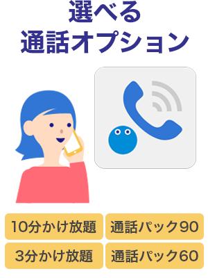 かけ放題,sim,通話,パック,定額,オプション