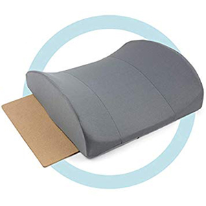 DMI Lumbar Support Pillow for Office or Kitchen Chair, Car Seat or Wheelchair Comes with Removable Washable Cover and Firm Insert to Ease Lower Back ...