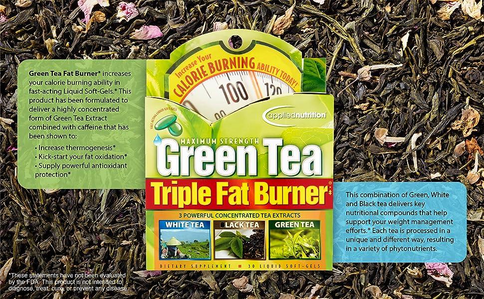 Amazon Com Applied Nutrition Green Tea Triple Fat Burner 30 Liquid Soft Gels Pack Of 3 Health Personal Care