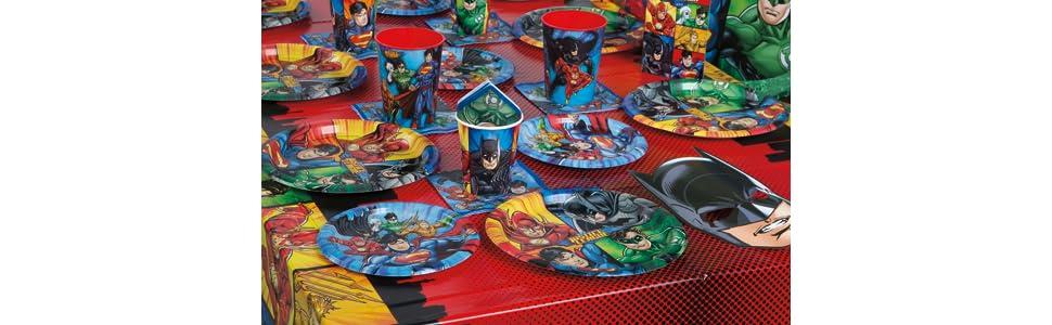 16ct Unique Party Favors 49961 Unique Justice League Beverage Napkins