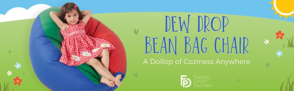 dew drop bean bag, classic, big, ecr, joe, 4kids, flexible seating, fdp, factory direct partners