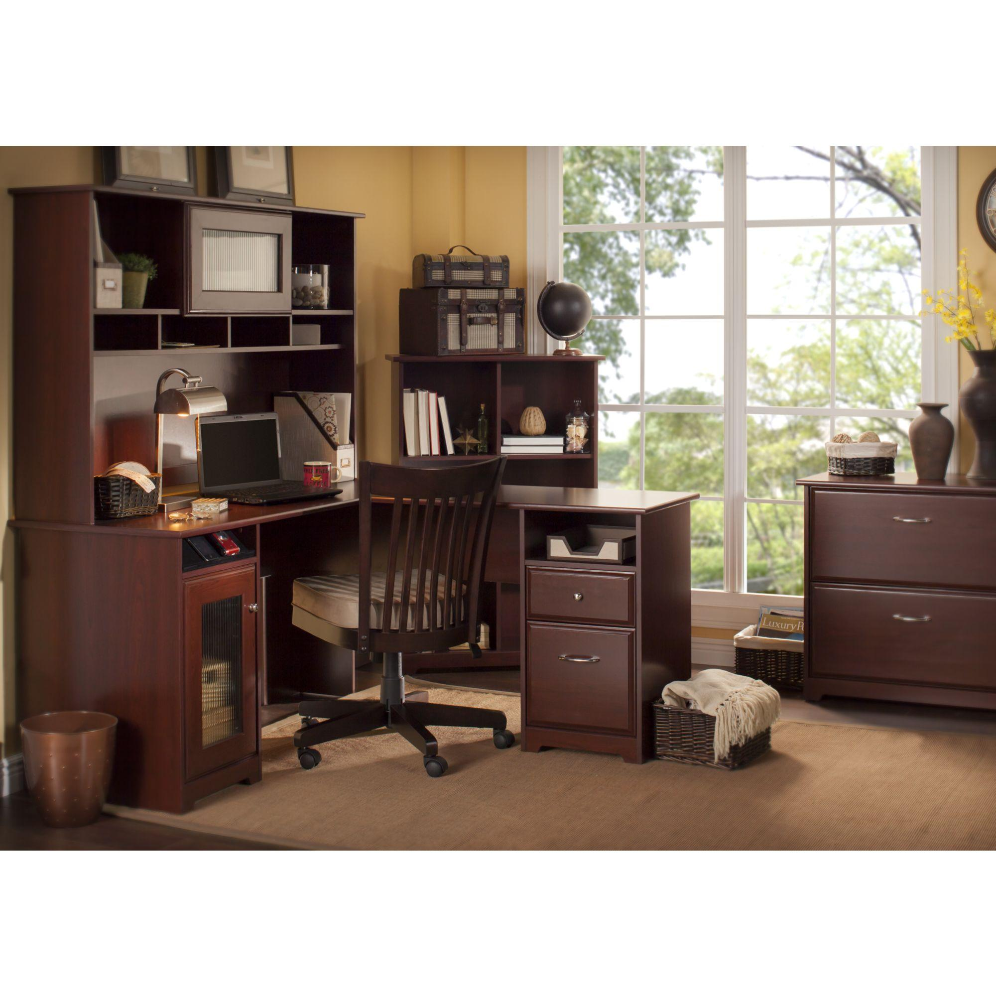 Amazon Com Cabot L Shaped Desk With Hutch Kitchen Amp Dining