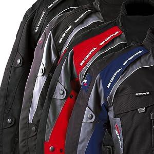 Roleff Racewear 7823 Liverpool Motorradjacke Schwarz//Rot Gr/ö/ße M