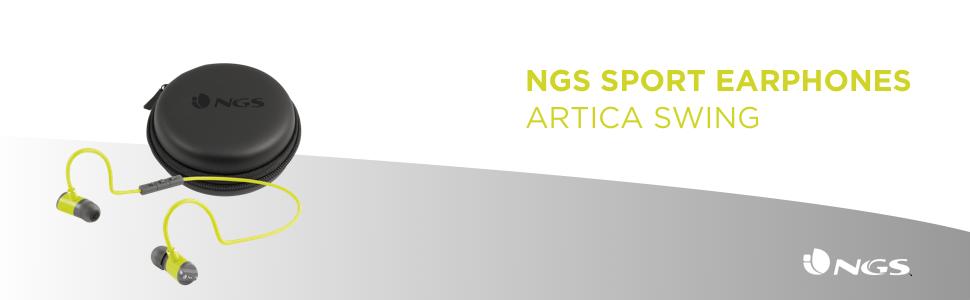 NGS Artica Swing Dentro de oído, Banda para Cuello Binaural ...