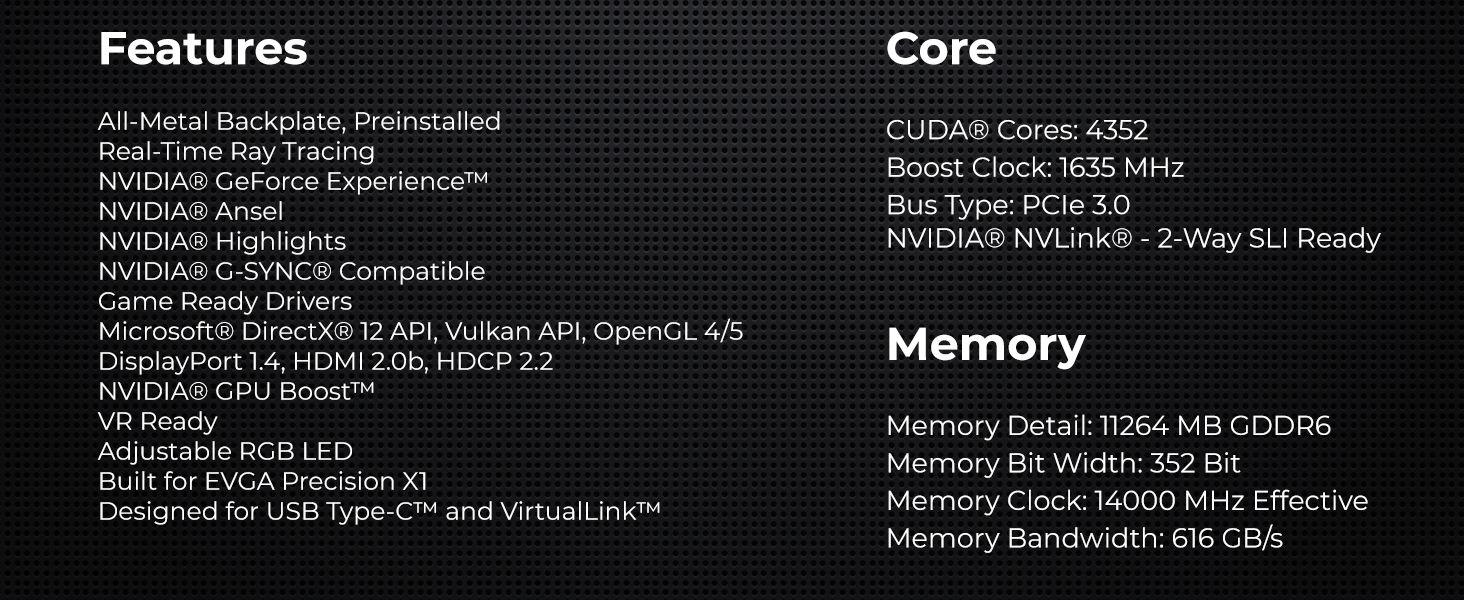 EVGA GeForce RTX 2080 Ti XC Hybrid Gaming, 11GB GDDR6, Hybrid & RGB LED  Graphics Card 11G-P4-2384-KR