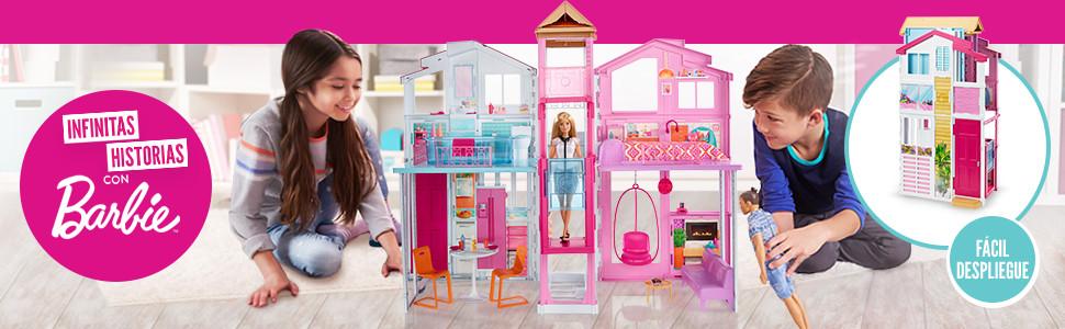 Barbie Supercasa, casa de muñecas con accesorios