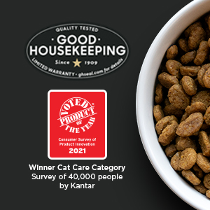 Backed by Good Housekeeping Seal and Winner of Cat Care Category Survey of 40000 people by Kantar