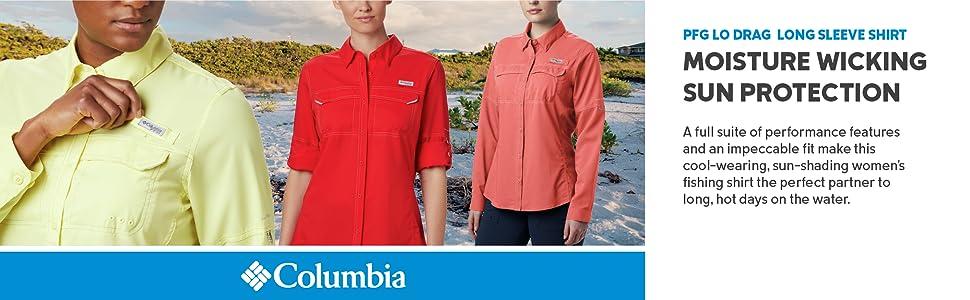 Columbia Women's PFG Lo Drag Long Sleeve Fishing Summer Shirt