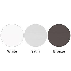three colors white satin bronze petsafe patio panel pet doors