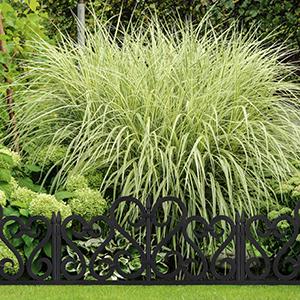 Relaxdays Set de 4 separadores de jardín, Valla Decorativa, con ...