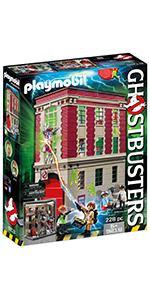 PLAYMOBIL Ghostbusters, Cuartel Parque de Bomberos, a Partir de 6 Años (9219): Amazon.es: Juguetes y juegos