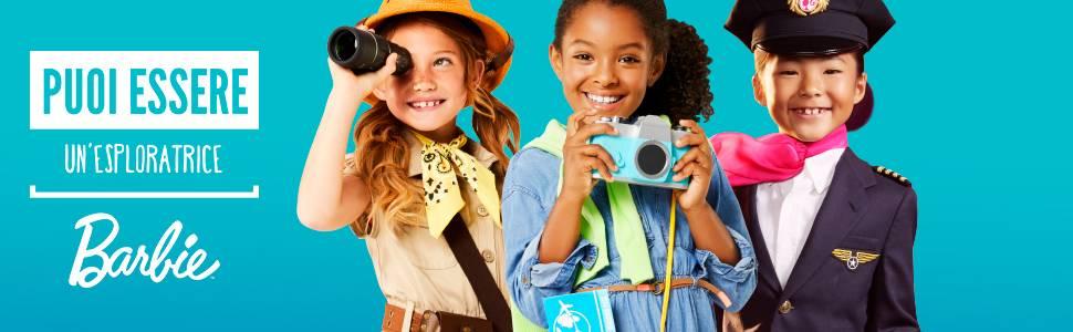 Barbie FWY29 l'Elicottero per Bambole, Rosa e Azzurro con Elica