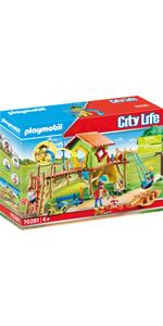 PLAYMOBIL City Life 70281 Parque Infantil Aventura, A partir ...