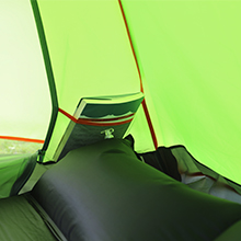 backpacking tent with pockets orangize