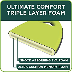 ultimate comfort triple layer foam