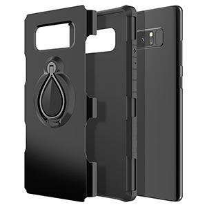 SMARTLEGEND Galaxy Note 8 Case with Metal Ring Holder Kickstand, Dual Layer Shockproof Heavy Duty Protection Defender Armor Case [Magnetic Car Mount ...
