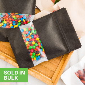 These bakery bags with windows are sold in bulk to so no guest will go without your candy.