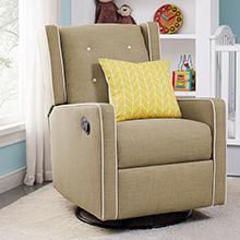 Baby-Relax-Mikayla-Swivel-Gliding-Recliner-Beige-Linen-Upholstery-Nursery-Room
