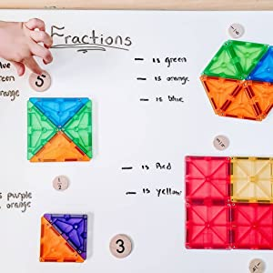 Learning fractions with Magna-Tiles
