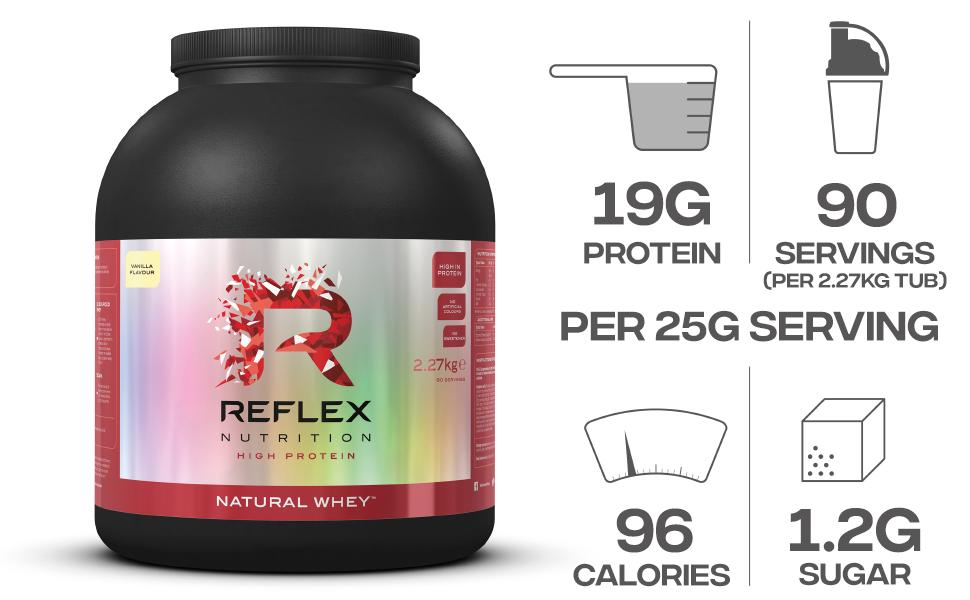 Reflex Nutrition Natural Whey Vanilla Ice Cream - 2270 gr ...