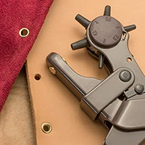 rotary Leather hole punch install eyelets install snaps in leather craft leathercraft