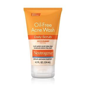 Oil-Free Acne Wash Daily Face Scrub