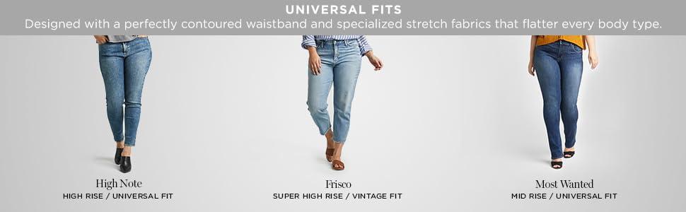 Silver Jeans Co Plus Size Womens Denim