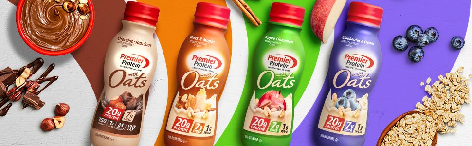 Premier Protein Shake with Oats, 20g Protein