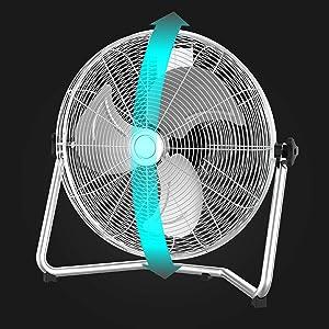 Cecotec EnergySilence 5000 Pro. Ventilador Industrial de m‡xima Potencia. 120 W. 3 velocidades. Motor de Cobre. Ajustable. Cromado. 3 aspas. Plata: Amazon.es: Hogar