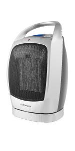 Orbegozo CR 5022 - Calefactor cerámico, oscilante, pantalla LCD, 2 niveles de potencia, función ventilador aire frío, termostato digital, 1500 W: Amazon.es: Hogar
