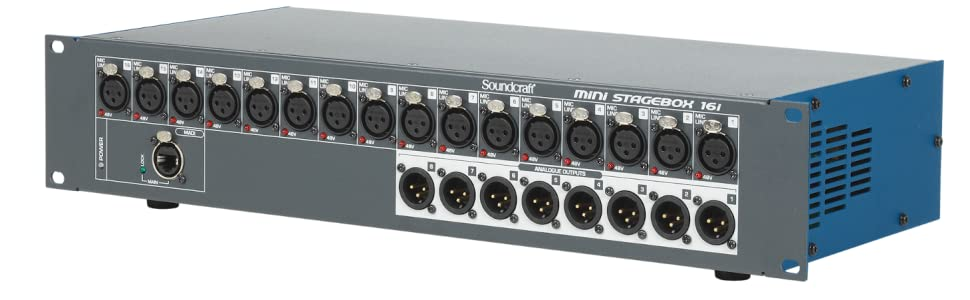 Soundcraft MSB-32i 32-channel Compact Digital Stagebox with Remote Controlled I//O