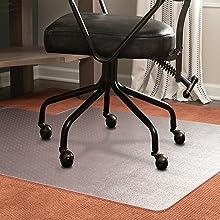 low pile carpet studded grip desk chair mat protection floor plastic vinyl