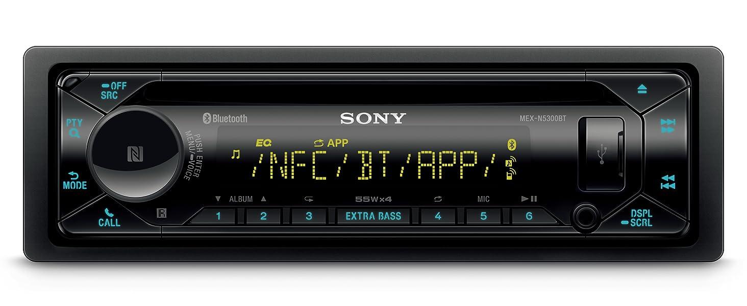 Sony Mex N5300bt Autoradio Mit Cd Dual Bluetooth Nfc Usb Und Aux Anschluss 35 000 Farben Vario Color Freisprechen Dank Mikrofon Elektronik