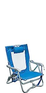 Details about  /GCI Waterside Bi-Fold Slim Beach Chair Saybrook Blue