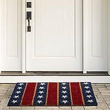 fourth of july,walk way rugs,patriotic door mat outdoor,patriotic door mat coir,waterproof doormat