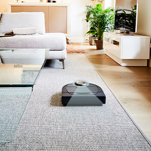 Neato laser navigation smart cleaning moves around furniture and stairs