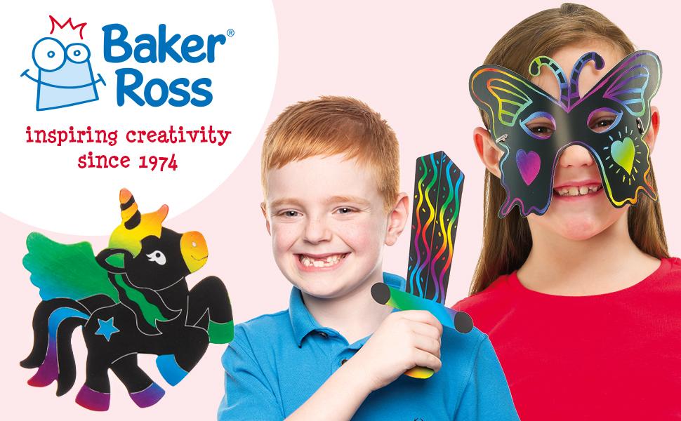 Baker Ross rasca el Arte Oro y Plata Paquete de 8