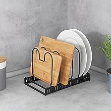 De trendy deksel- en pannenhouder zwart in industriële stijl geeft je kamers stijl