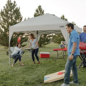 CORE 10' x 10' Instant Shelter Pop-Up Canopy Tent with Wheeled Carry Bag 30