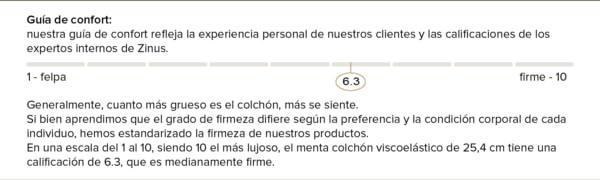 Zinus Colchón de Espuma viscoelástica con efecto memoria y capa Green Tea de 150x200x25cm, Certificación OEKO-TEX®