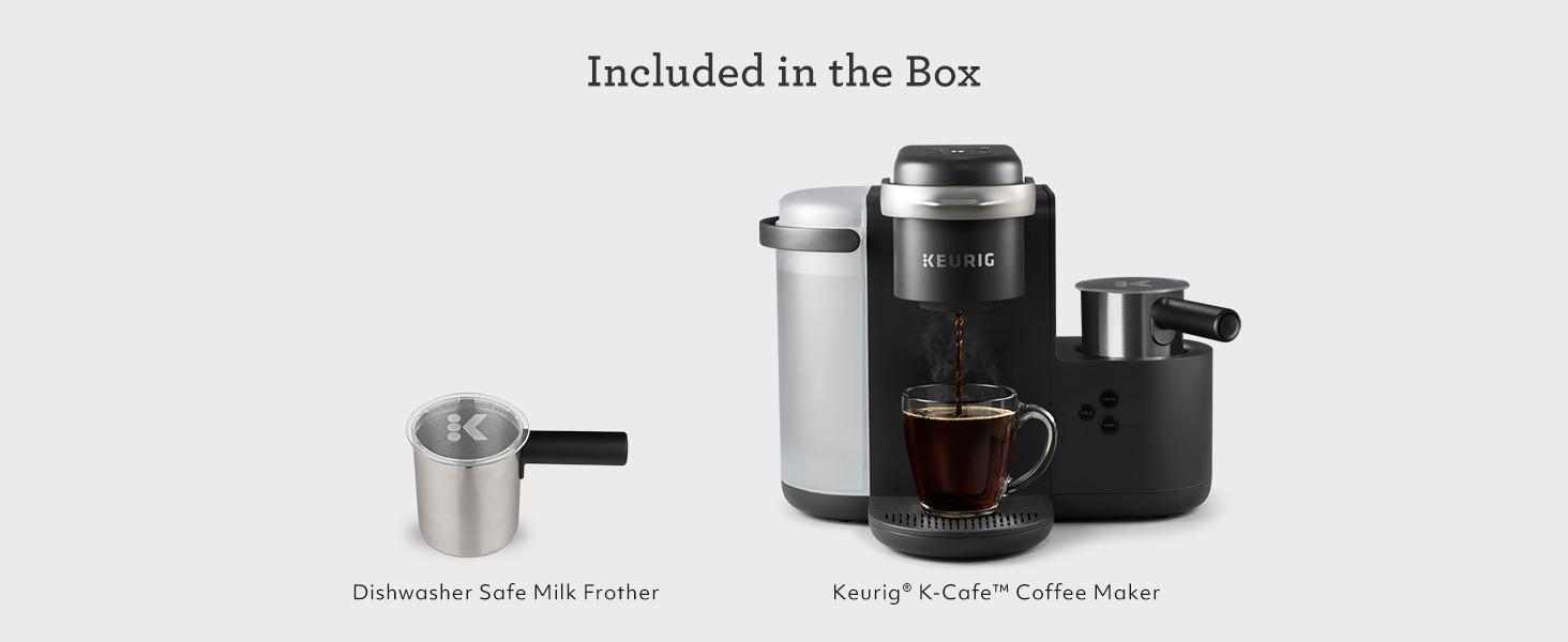 keurig k-cafe, keurig coffee maker, coffeemaker, cappuccino, latte, k cup pods, kuerig, kurig, kcups