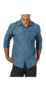 ATG x Wrangler Mixed Material Long Sleeve Shirt