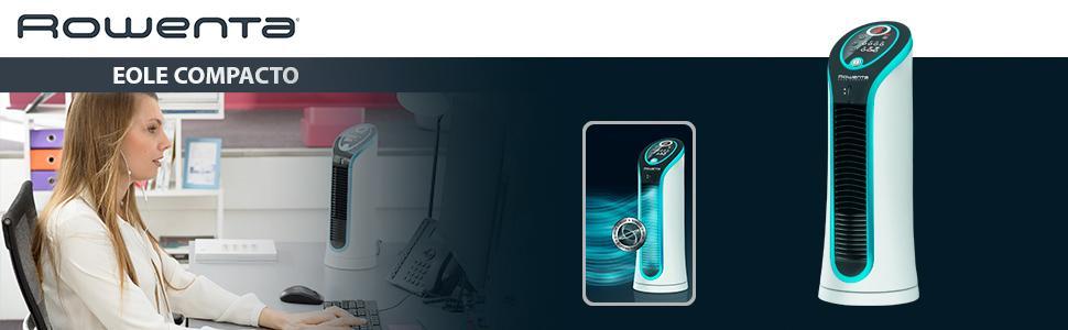 Rowenta Eole Compact VU6210F0 Ventilador de 30 W, Airflow 3D con 3 ...