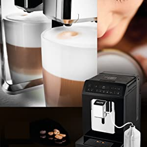 Krups Evidence Espresso EA8918 - Cafetera Superautomática 15 Bares, 15 Preajustes, Niveles de Intensidad, Molido Grano, Autolimpieza y Descalcificación e Incluye Jarra de Leche: 645.97: Amazon.es: Hogar