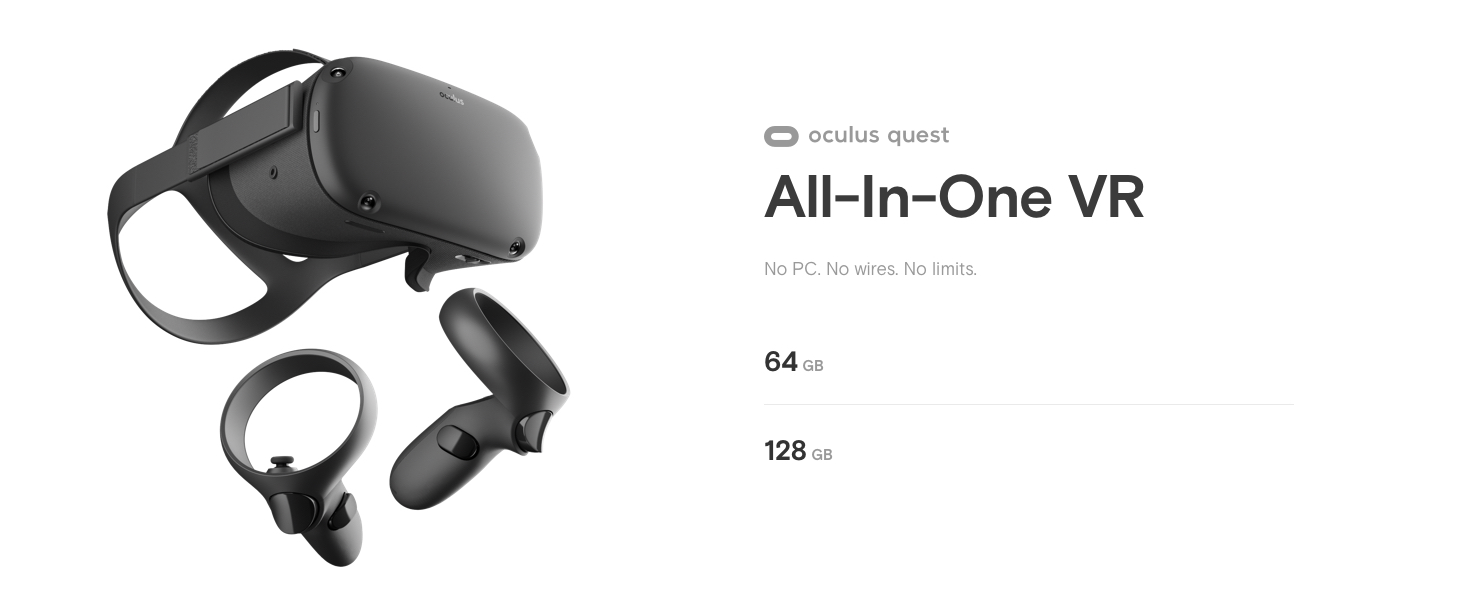 Image result for Oculus Quest All-in-one VR Gaming Headset