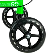 7.5 inch polyurethane wheels provide excellent stability and control