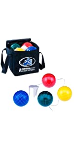 Bocce pro, regulation, 109 mm, durable, carrying case, quality