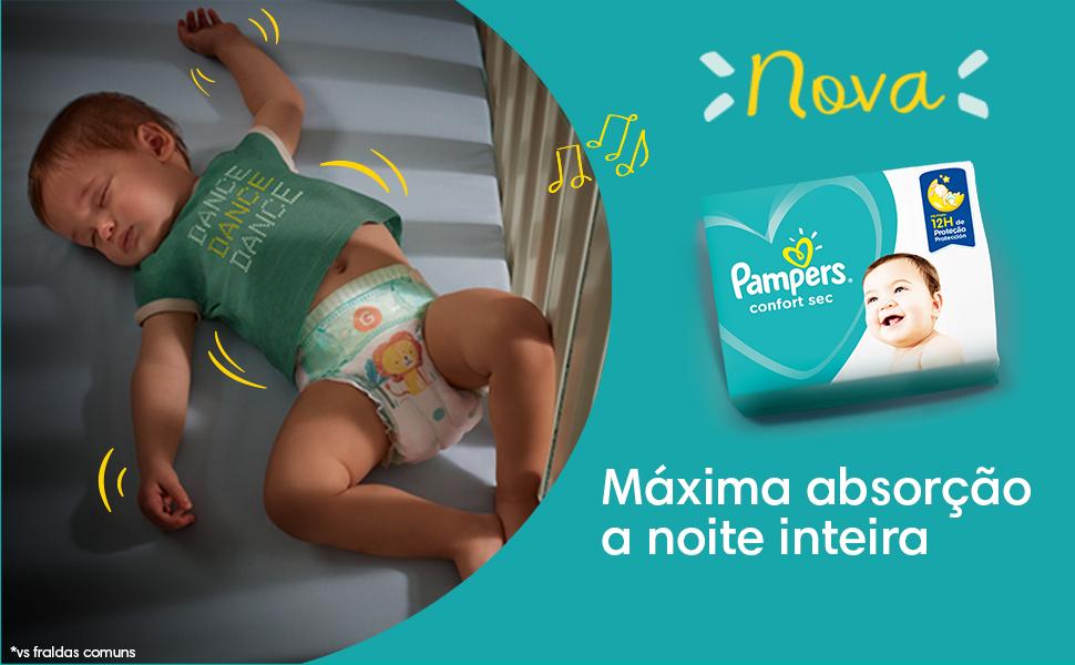 pampers, bebê, confort sec, fralda